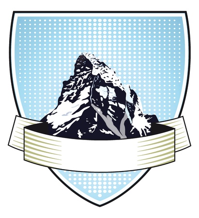 matterhorn: mountain Crest Illustration