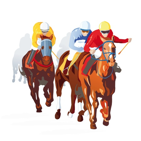 horse riding: Horse Race Finish