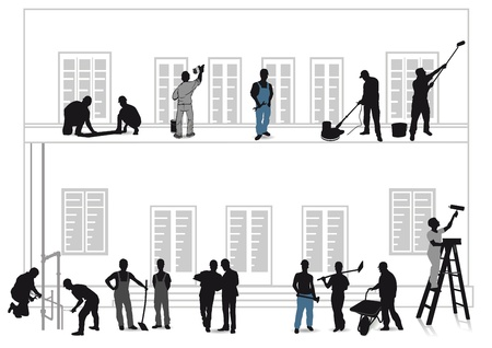 Craftsmen Home Improvement Vector