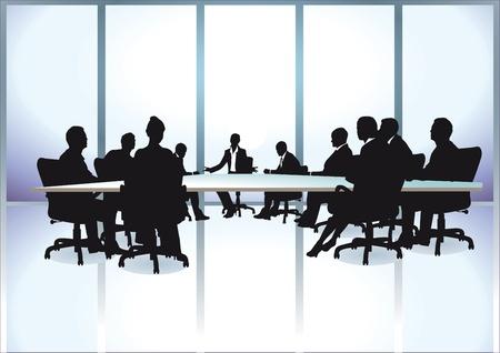 オフィスでの会議のビジネス人々 のグループ