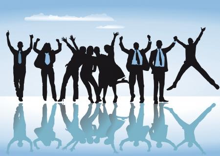 happy employees: happy team