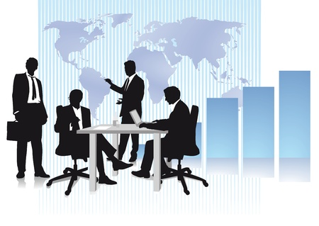 Business and world trade Vector