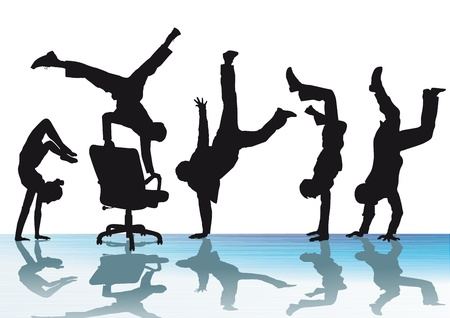 handstand: Handstand and joy in the office