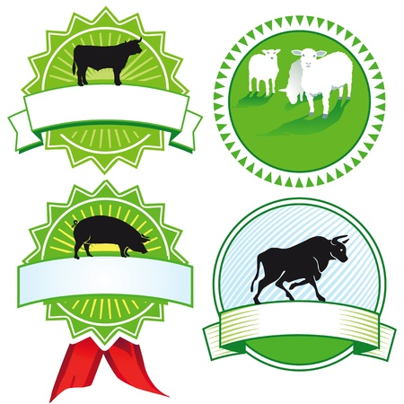 cattle breeding signs Vector