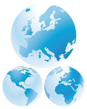 Europe and Continents Vector