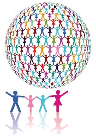 humanidad: Familia y Desarrollo Humano Vectores