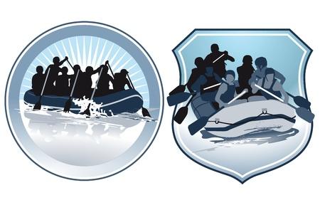 jangada: personajes de rafting
