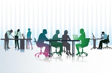 Mensen uit het bedrijfsleven in office Stock Illustratie