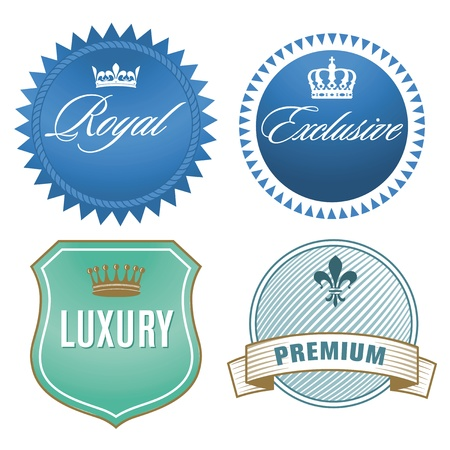 assure: Luxury labels with crown  Crest