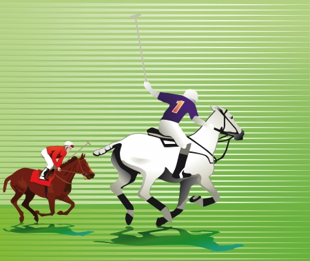 Polo player Illustration