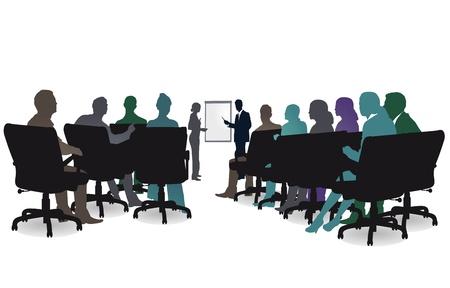 sesión del seminario Ilustración de vector