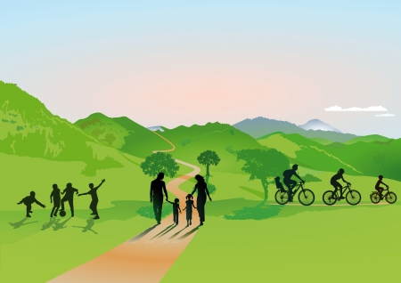 belonging: Families in the hills Illustration