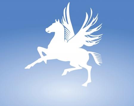 old horse: Pegasus Horse Sign Illustration