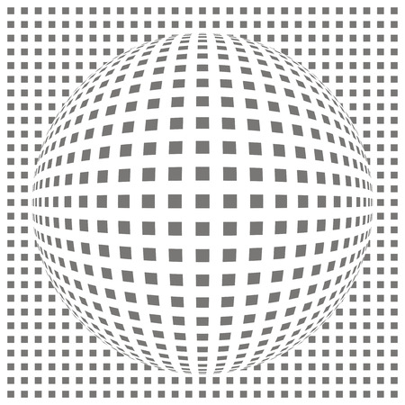 rounding: curved grid Illustration