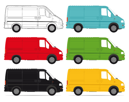 Delivery Vans on white background Stock Vector - 22731007