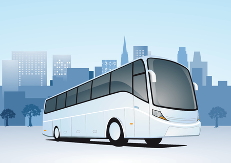 City Travel by bus Vector