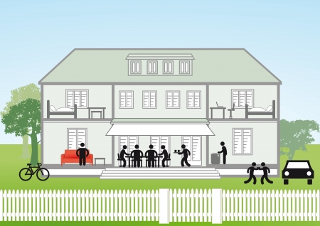 Family house cross-section Stock Vector - 22719908