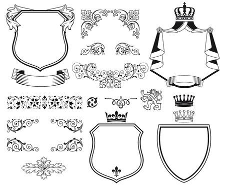 demanding: Traditional design elements Illustration