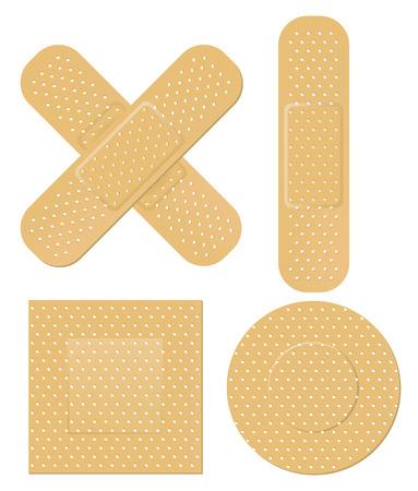 Adhesive bandage Ilustracja