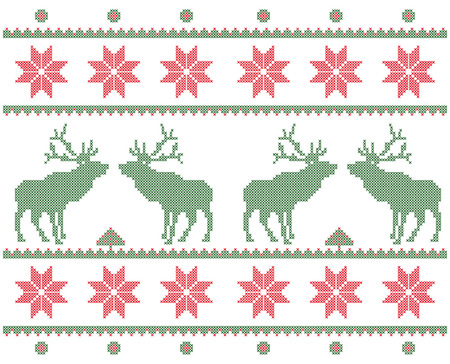 Textile with deer