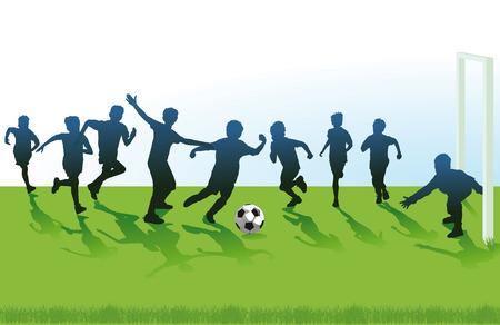 Youth Soccer Illustration