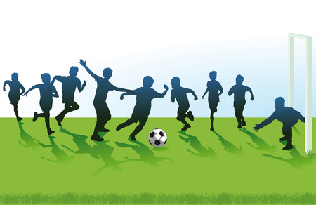 kids football: Youth Soccer Illustration