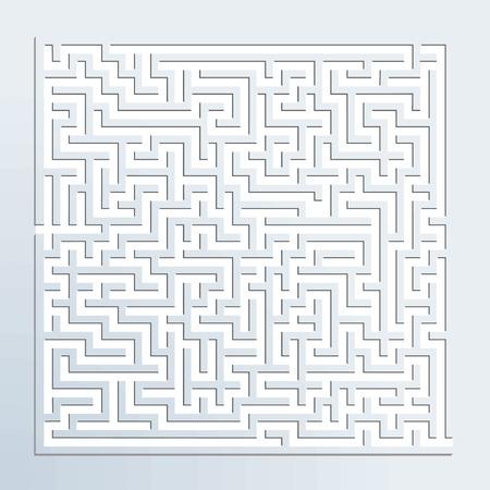 dimensionalen Labyrinth Illustration