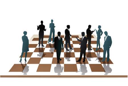 employees chess Illustration