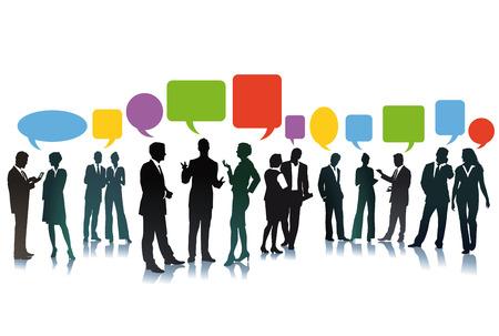 pronunciation: Business exchange of ideas