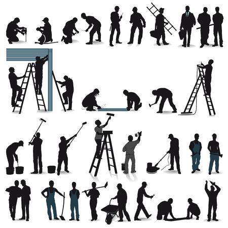Professionnels artisans Banque d'images - 24188832