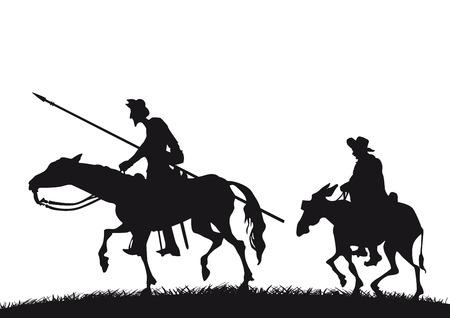 Don Quichotte et Sancho Panza Banque d'images - 24533220