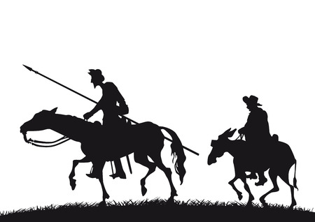 cavalry: Don Quixote and Sancho Panza