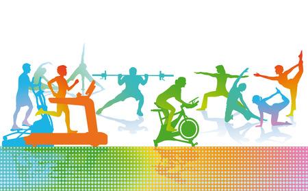 gym room: Fitness y Deportes Vectores