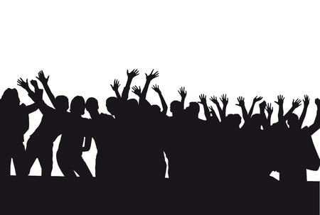 masses: Crowd cheers