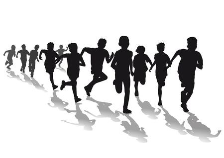 niño corriendo: Niños corriendo carrera