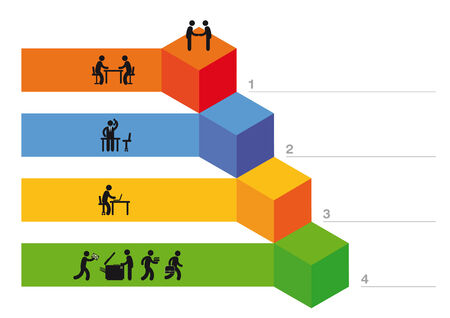 excellent: infographic of growth Illustration