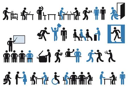 reuniones empresariales: gente de la oficina pictograma