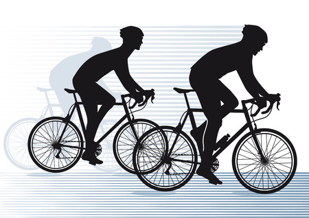 fahrradrennen: Bike-Rennen Illustration