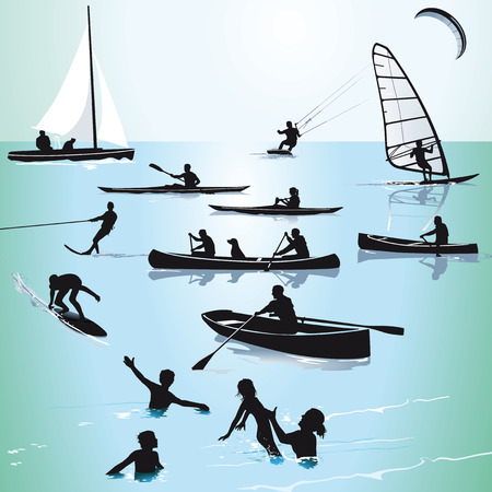 Watersports and Bathing Vector
