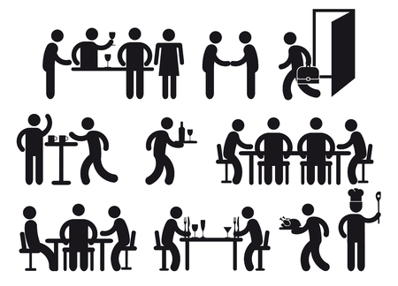 Restaurant pictograms  Vector