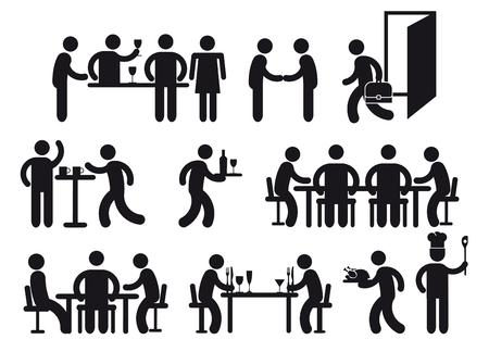 Restaurant pictograms  Vector