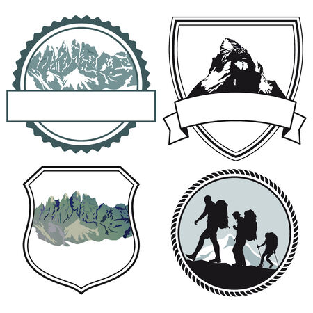mountaineers climber symbols  Vector