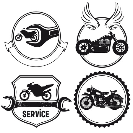 Motorfiets tekenen Vector Illustratie