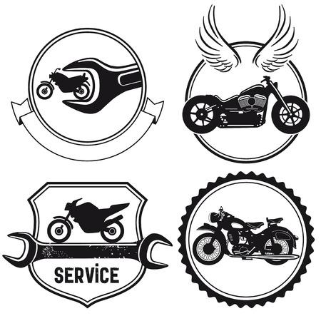 Motorrad-Zeichen Vektorgrafik