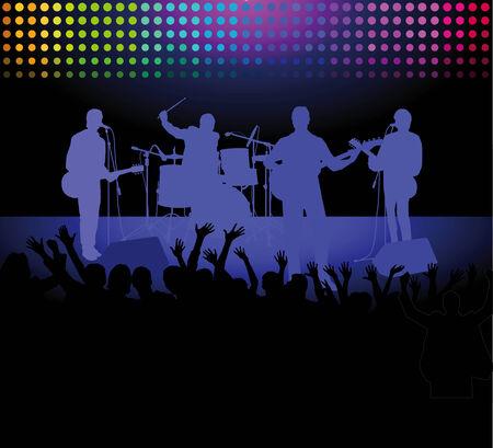 bass player: rock concert