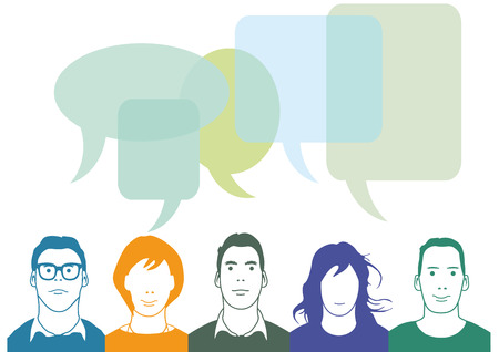 People in the chat  communication concept Vector