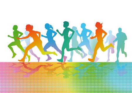 endurance run: run Sporty Illustration