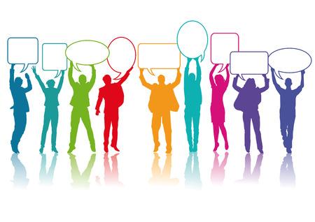 la gente se comunica Ilustración de vector