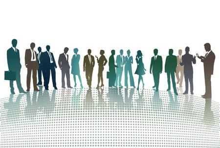 contextual: groups meeting  Illustration