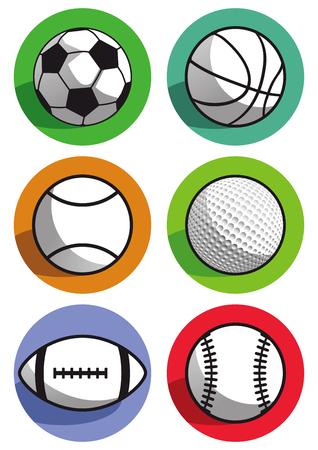 balones deportivos: balones deportivos Vectores
